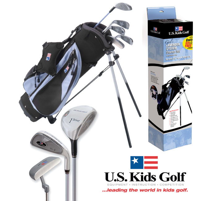 US Kids Golf Girls Lavender Starter Set (6-8 years)